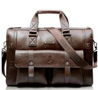 Fashion 100% Brand New Men Business Vintage Laptop Bag Briefcase Big Capacity Horizontal Handbag Travel Bag