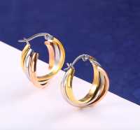 Triple Ring Hoop Earring