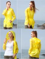 Hooded breathable waterproof windproof anti-UV 20D Nylon Windbreaker Summer Jacket