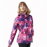 Latest Design Women Camouflage Polyester Hooded Jacket Camo Outdoor Jackets