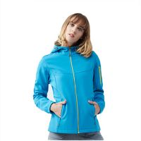 Wholesale Women Clothes Sport Waterproof Hooded Softshell Jacket
