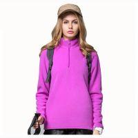 Fashion Women Half Zipper Sweater Pullover Waist Sweater Plus Size Fleece Jumper