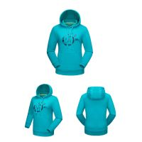 Winter Warm Women Printing Windbreaker Fleece Pullover Hoody Jacket
