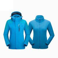 Windproof Waterproof Coat Women 2 in 1 Jacket Separate Fleece Liner Inside