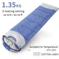 Winter 5V Battery Heated Sleeping Bag Polyester Sleeping Bag For Outdoor Use