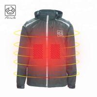 Mens 5V Heated Jacket With 3M Fleece Liner, Reflective Biker Jacket