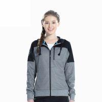 Sports Jacket Women Sweatshirt with Hood Zip-up