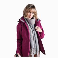 Fashion Clothing Ladies Printing Hooded Windproof Ski Jacket for Winter Outdoor Activities