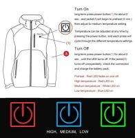 Warm Coats Mens Heated Work Jacket Battery Operated Clothing With Heater
