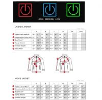 Rechargeable Battery Heated Jacket For Motorcycle Rider
