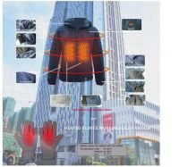Aisycle Design Double Heating System Clothing, Heated Jacket And Gloves