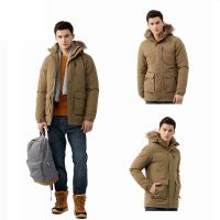 New Product Warm Windbreaker 80% Duck Down Mens Casual Jacket Coat With Fur
