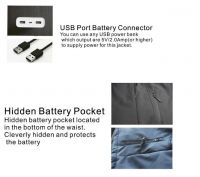 China Factory Direct Cheap 5V Battery Heated Jacket Waterproof Windproof Jacket
