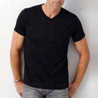 America Style Clothing Men's V neck High Quality plain Blank t shirts