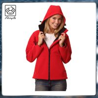 Girl Fleece Lined Hooded Soft Shell Jacket Custom Printed Logo Factory
