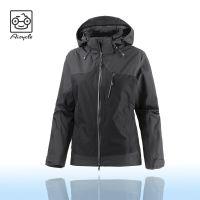 OEM With Hood Cheap Promotion Black Softshell Jacket Logo Customized