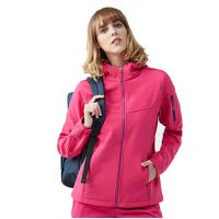 Wholesale Women Clothes Sport Waterproof Hooded Softshell Jacket Size
