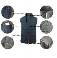 Best Mens Battery Electric Heated Woolen Vest With Duck Down Inside Manufacturer Direct