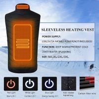 Intelligent Electric Battery Heated Heating Vest Mens Women Winter Warm Up Zipper Sleeveless Jacket Wind Resistant Vests