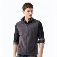 New Zipper Up Mens Sleeveless Warm Vest 320gsm Fleece Vest