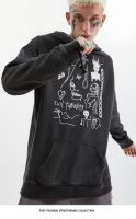 2019 new fashion men's autumn and winter teen smile fashion hoodie print smiley jacket casual pullover jacket