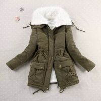 Winter Coat Women military Outwear Medium-Long Wadded Hooded snow Parka thickness Cotton Warm casual Jacket Plus Size