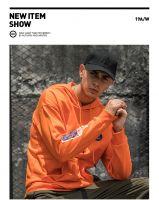 Men Black Hoodie Streetwear Fashion Harajuku Loose Hoody Tops Hip Hop High Street Pullover Rap Hoodie Autumn Dance Hoodie Males