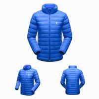Comfy Deep Blue Coat Duck Down Jacket For Winters Men OEM Service