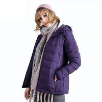 Duck Down Jacket For Women Ladies Hooded Padded Coat Jacket