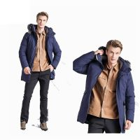 Fashion Outdoor Windbreaker Thick Hooded Duck Down Jacket for Winter With Fur