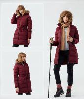Winter Womens Hood Fur Padded Jacket Ladies Down Jacket On Sale