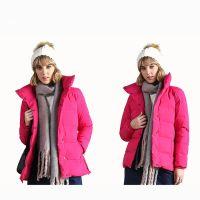 Fashion Black 100% Polyester Ultra Light Down Jacket Women