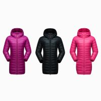 Newest Womens Outdoor Long Padded Coat Hooded Jacket For Winter Wear