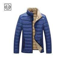 Men's Lightweight Stand Collar Packable Down Jacket