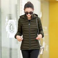 Winter New Women's Cotton Puffer Jacket Lightweight Cotton Clothing Slim Fit Hooded Puffer Jacket