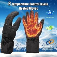 High Quality 3 Control Level Battery Power Electric Heated Winter Warm Waterproof Gloves