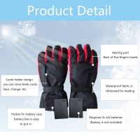 Winter Heating Gloves Hand Warmer Rechargeable Battery Heated Gloves Cycling Gloves