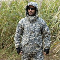 Army Camouflage Coat Military Tactical Jacket Men Soft Shell Waterproof Windproof Jacket Winter Coat