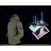 Soft Shell V4 Tactical Military Jacket Waterproof Softshell Jackets Men Army Hoodie Jacket