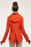 Share Personalized 100% Polyester Women Lightweight Waterproof Orange Sport Jacket From China Garment Factory