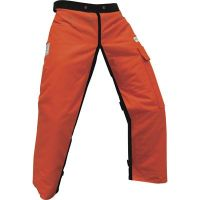 """Chainsaw Apron Chaps with Pocket, Orange 37"""" Length"""