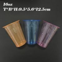Ideal for Promation Rainbow Neon Design 16oz Disposable Neon Cup