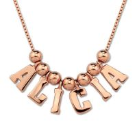 Multiple initial letters necklace in silver name charm pendant necklace best friends gifts