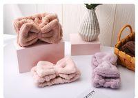 Bow Hair Band, Soft Carol Fleece Hairlace Headband Turban Bowknot Bow Makeup Shower Headbands Headwraps