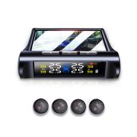 Universal Auto Tire Pressure Monitoring System/Car solar TPMS Wireless Bluetooth +4 External Sensor LCD Display