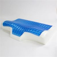 cooling gel memory foam neck pain relax led pillow