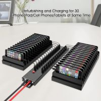 5V 2.1A 30 Port USB 2.0 HUB Laptop/Tablet/iPhone/Pad  Charging Station for Charger Cart/Cabinet with 300W (5V/60A) Power Supply
