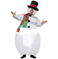 Adult Inflatable Snow Man Costume for Xmas Holiday Party