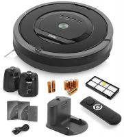 iRobot Roomba 880 Vacuum Cleaning Robot with 2 Virtual Wall Lighthouses (Batteries Included), HEPA Filter, Remote Control (Batteries Included), Dock Station and Manuals