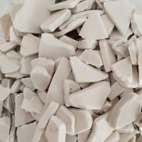 Recycled UPVC pipe scrap and PVC window profile chips white and grey color